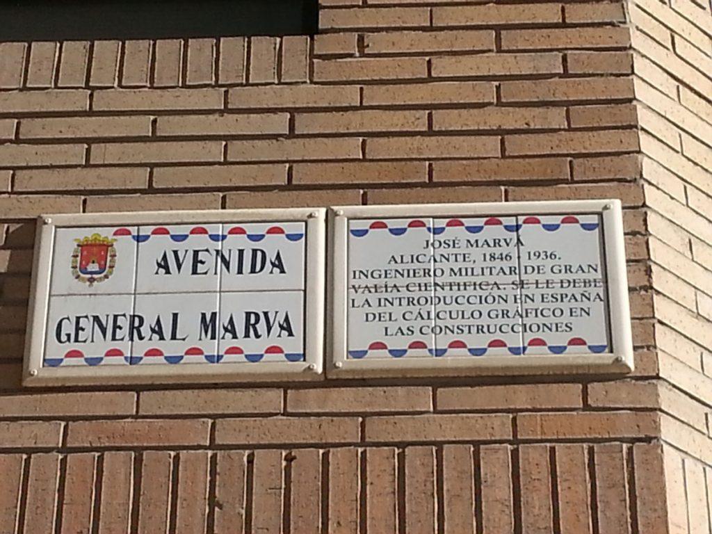 Placa General Marvá
