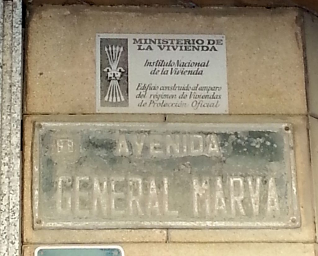 Placa Antigua Avenida General Marvá